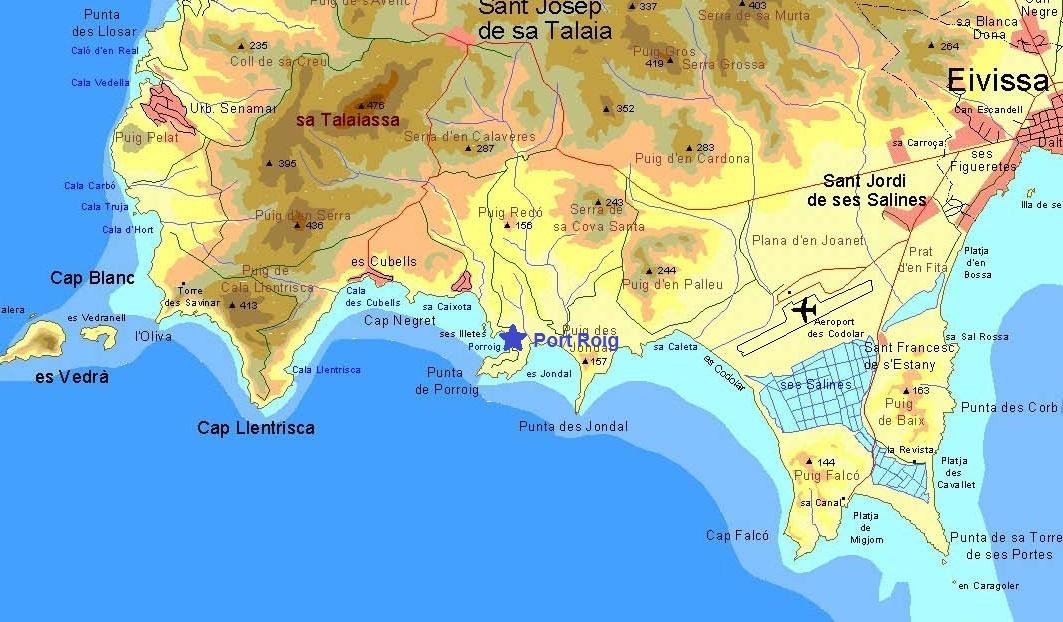 Ibiza Karte Strande.Ankern Und Umwelt Ibiza Marinas